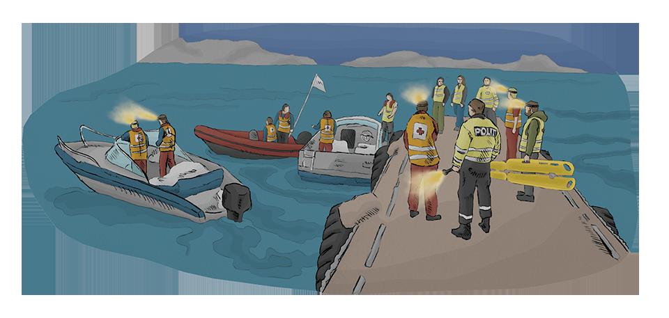 Redningsaksjon til sjøss